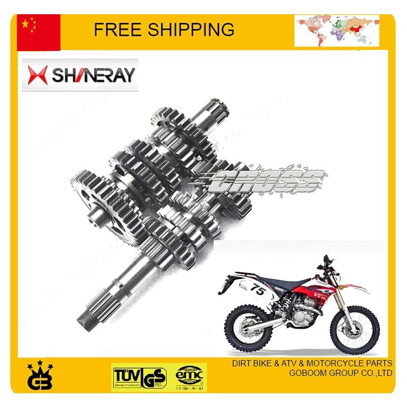 countershaft shineray X2 X2X 250cc countshaft mainshaft transmission gear M-4 counter-shaft count shaft main comp