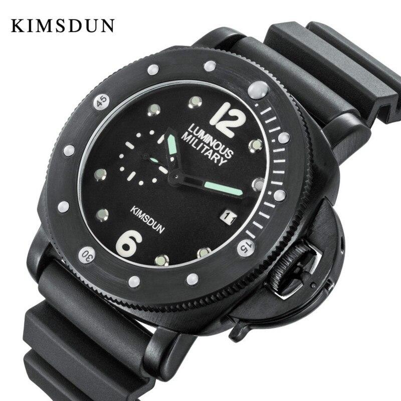 KIMSDUN, reloj de cuarzo deportivo informal para hombre, relojes de marca superior de lujo, reloj de cuarzo, correa de goma, reloj militar, reloj de pulsera para hombre