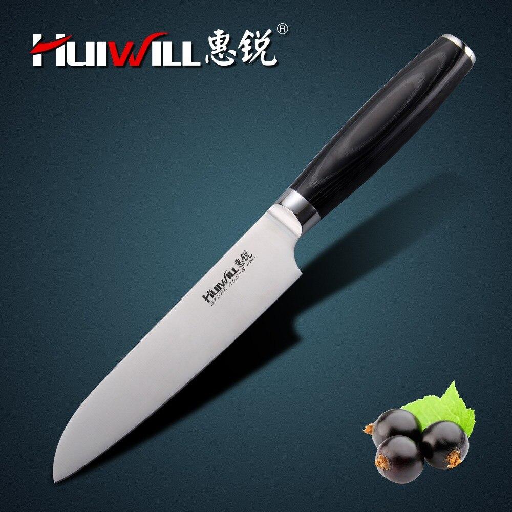 """HUIWILL marca 5 """"Japonês AUS 8 Santoku Faca do Chef de cozinha facas faca de aço inoxidável kitchenwares"""