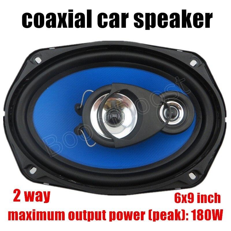 Un par de alta calidad, de alta potencia de 6x9 pulgadas 2 2x180W coaxial del coche profesional audio estéreo altavoz para todos los coches