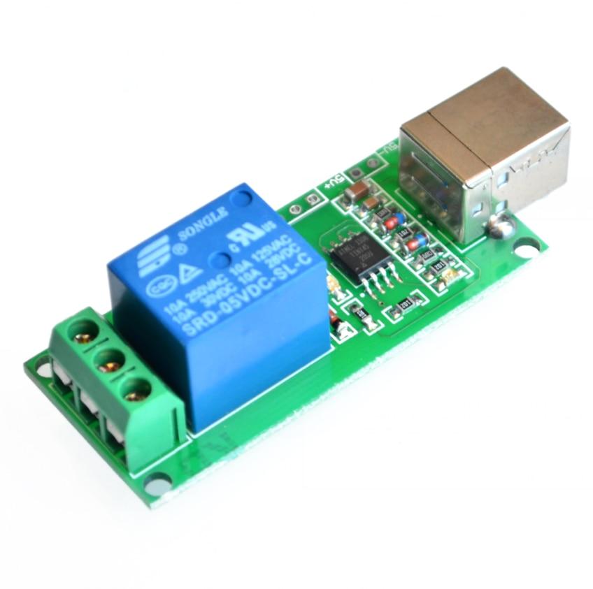 Controle programável do computador do canal do relé 5v usb 1 para a casa esperta