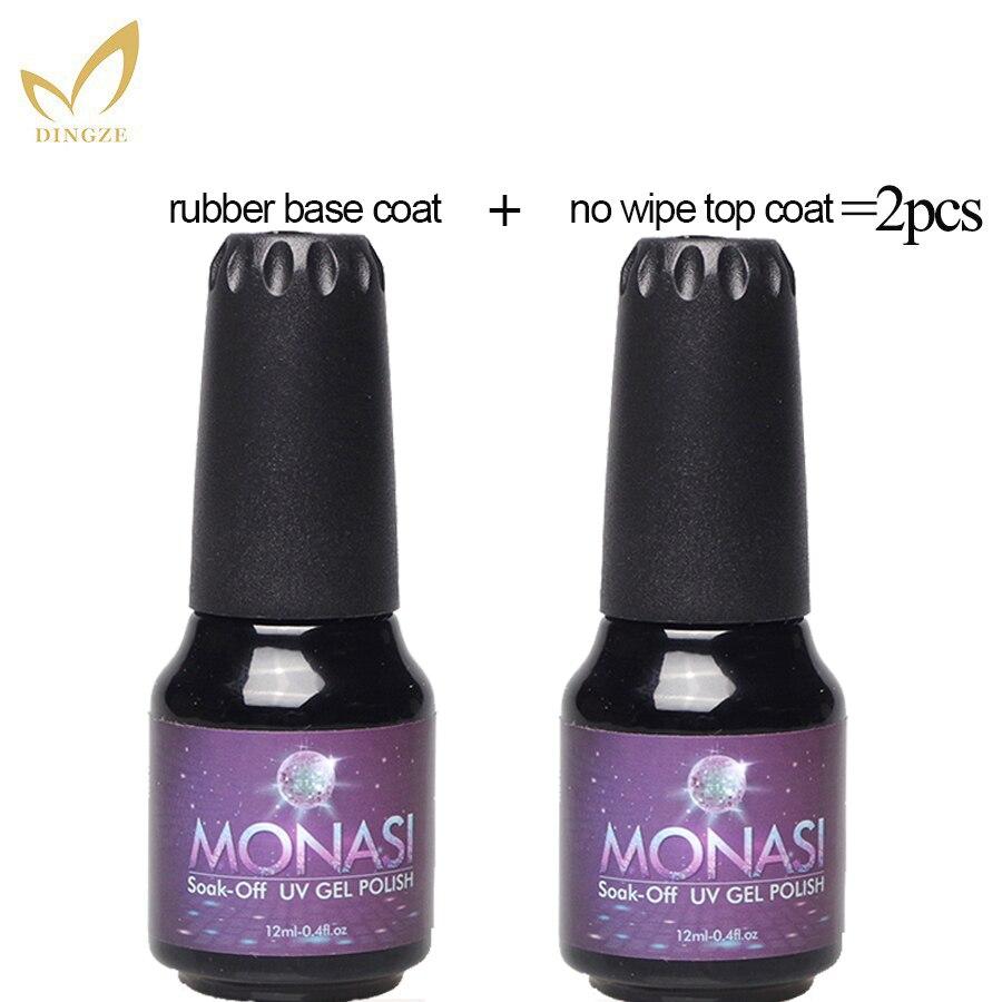 12ml Monasi arte de uñas remoje Base de goma gruesa Gel polaco claro Base para uñas