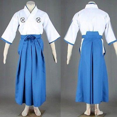 BLEACH Kurosaki ichigo Cosplay Costume College Student Kimono Full Set S-3XL