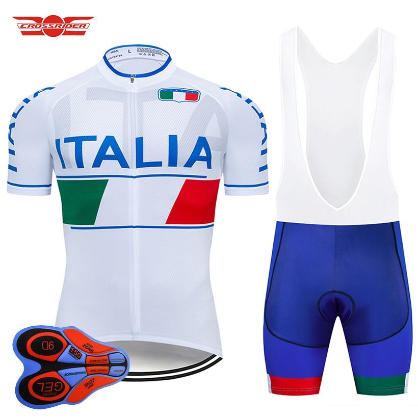 Crossrider 2021 ITALIA Jersey de Ciclismo MTB uniforme bicicleta hombres Ropa conjunto...
