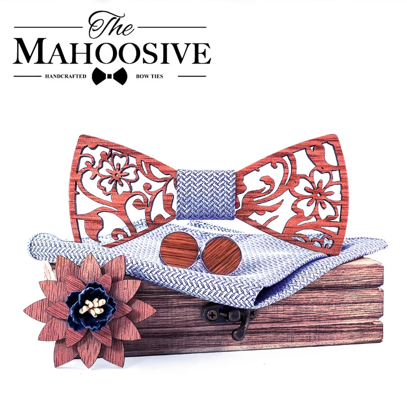 Wood Gravata Wooden Bow Ties Hardwood Handmade Personality Accessory Ties For Men Butterfly necktie Wooden Bow tie