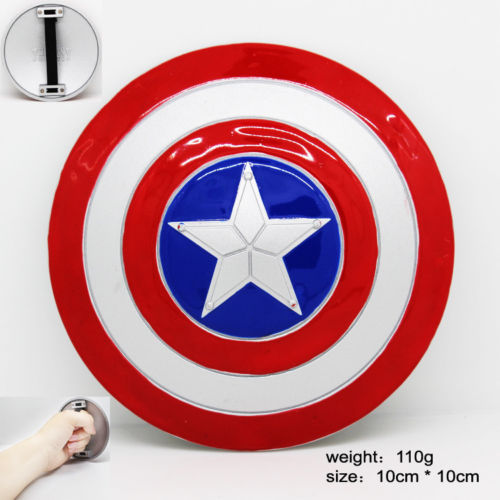 1:6 The Avengers Captain America Schild Metall-legierung Modell 10 cm MINI Cosplay Prop Weihnachtsgeschenk