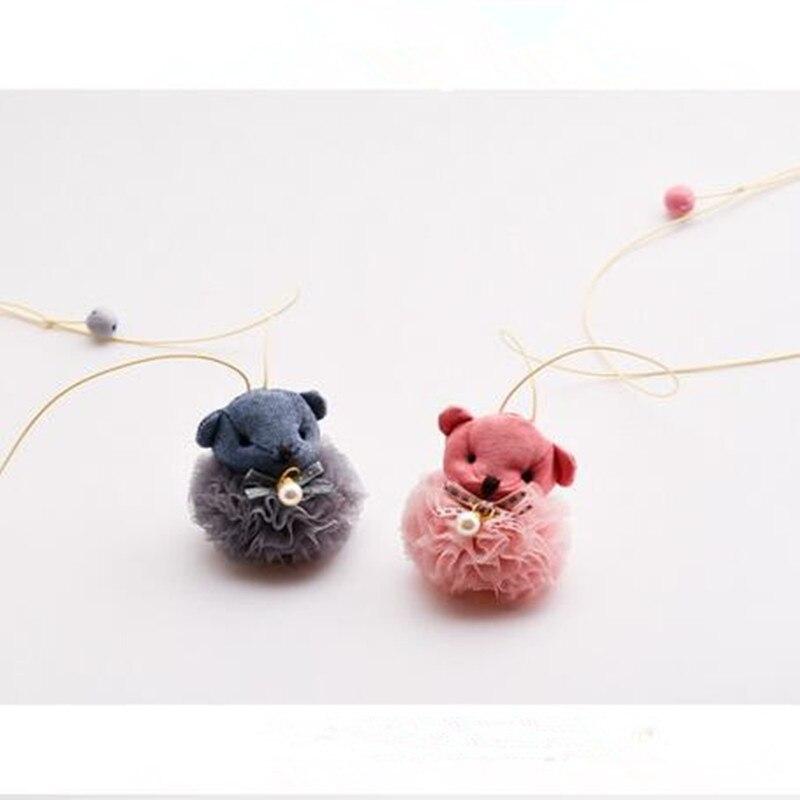 Корейская Милая пряжа для детей, детские ожерелья и подвески для девочек, детские цепочки, воротники, модные ювелирные аксессуары-HZPR