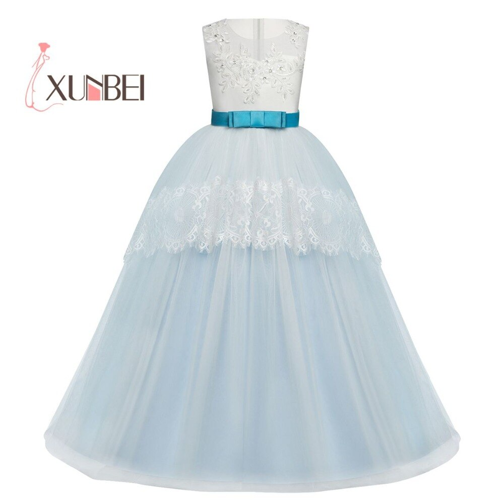 new arrival princess short sleeves lace flower girl dresses 2019 pink appliqued ball gowns for girls first communion dresses Princess Tulle Flower Girl Dresses 2019 Lace Appliqued Pageant Dresses Girls First Communion Dresses Girls Party Gowns