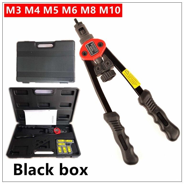 "Pistola remachadora MXITA, herramienta de remache automático, pistola de Tuercas de remache ciego de 12 "", herramienta Manual para Incer tuercas, mandriles M3 M4 M5 M6 M8 M10 BT-606"
