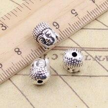 10 قطعة Charms بوذا رئيس 11x9x7 مللي متر التبت الفضة اللون المعلقات العتيقة صنع المجوهرات Craft بها بنفسك الحرفية اليدوية