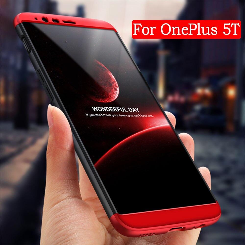 Casos de Telefone Para OnePlus ASTUBIA 6 Case Para OnePlus 5 T Cobertura 360 Original Completa Protector Ultra Fina Coque Para Um Mais 5 T 6 caso