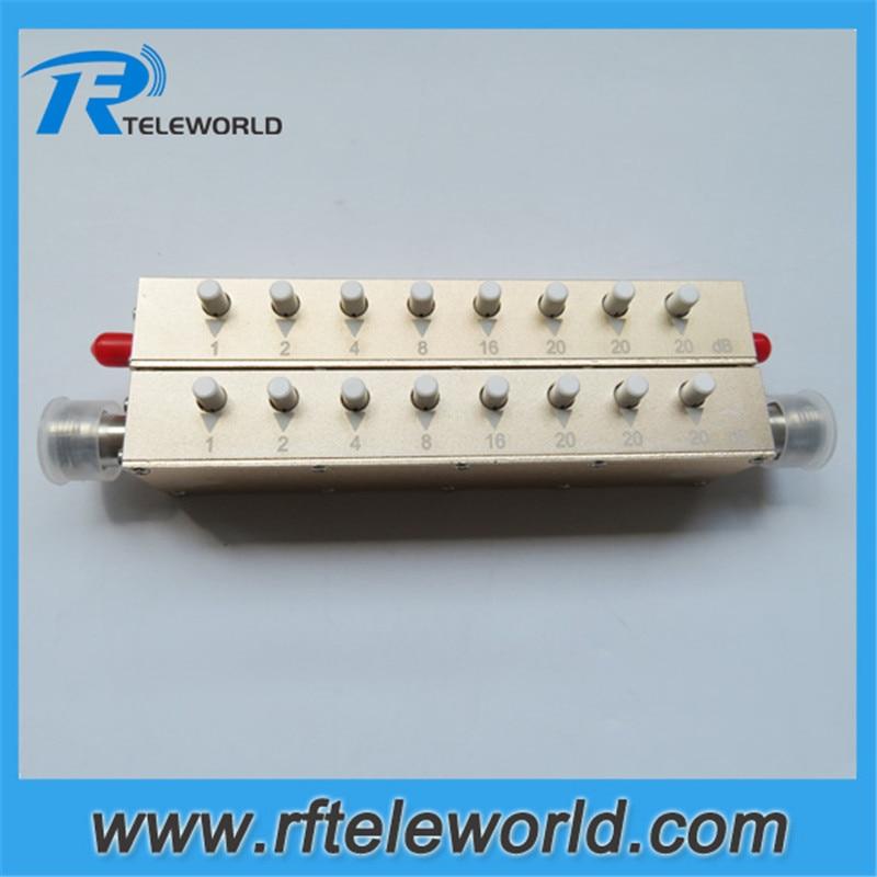 3GHz 50ohms 2W 5W 0-90db SMA/N 1dB stepped variable Attenuator keypress Attenuators