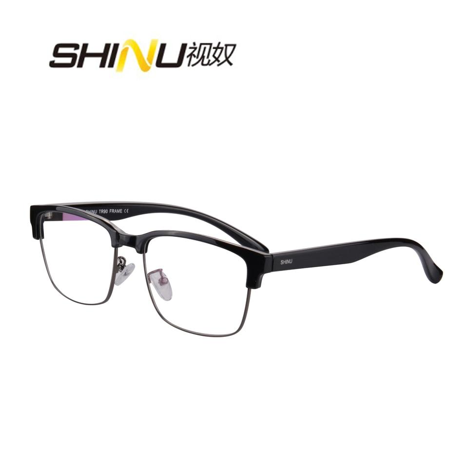 SHINU Brand Progressive multi-focal lens Reading Glasses Half-Rim See Near Far  +100 +150 +200 +250 +300 +350 SH018