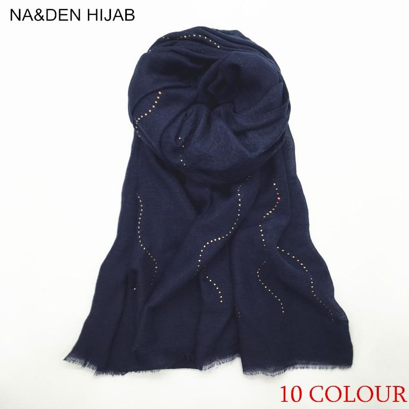 De moda suave bufanda colores sólidos set auger borlas scarfshawls pañuelo pashmina hijab musulmán para mujer envuelve bufanda 50 unids/lote