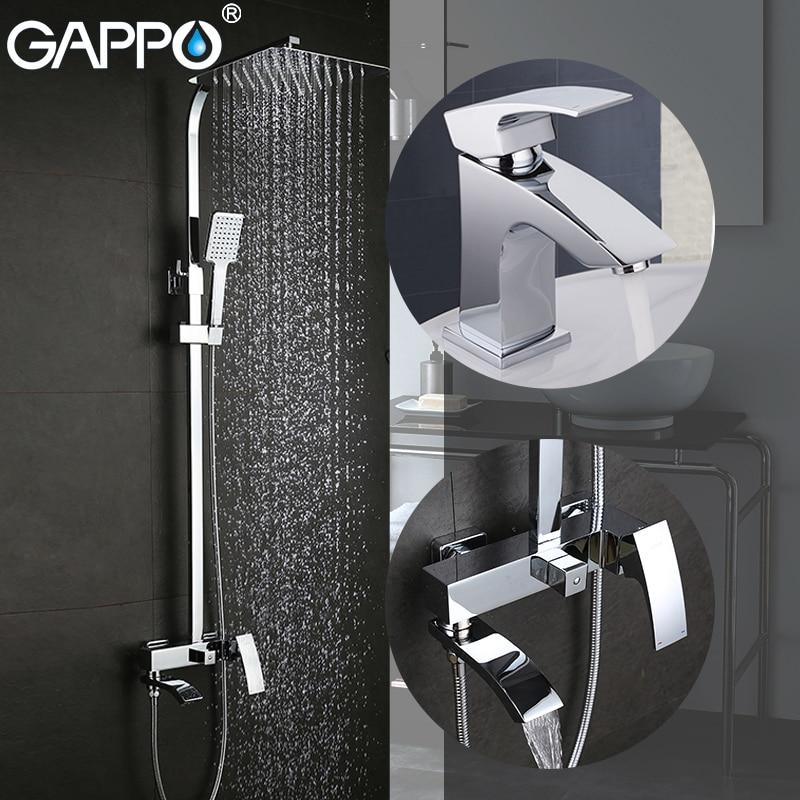 GAPPO-حنفيات حوض الاستحمام ، حنفيات حوض الاستحمام ، خلاط حوض نحاسي ، صنبور شلال للحمام ، صنبور حوض