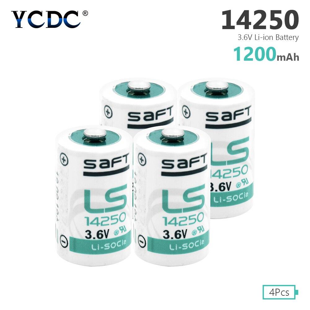 4 Uds 3,6 V 1200mAh 14250 Li-SOCl2 batería LS-14250 1/2 AA R6 L14250 ER14250 para Tadiran batteries TL-5902 TL-2150 TL-5151 TL-2100 TL-5101