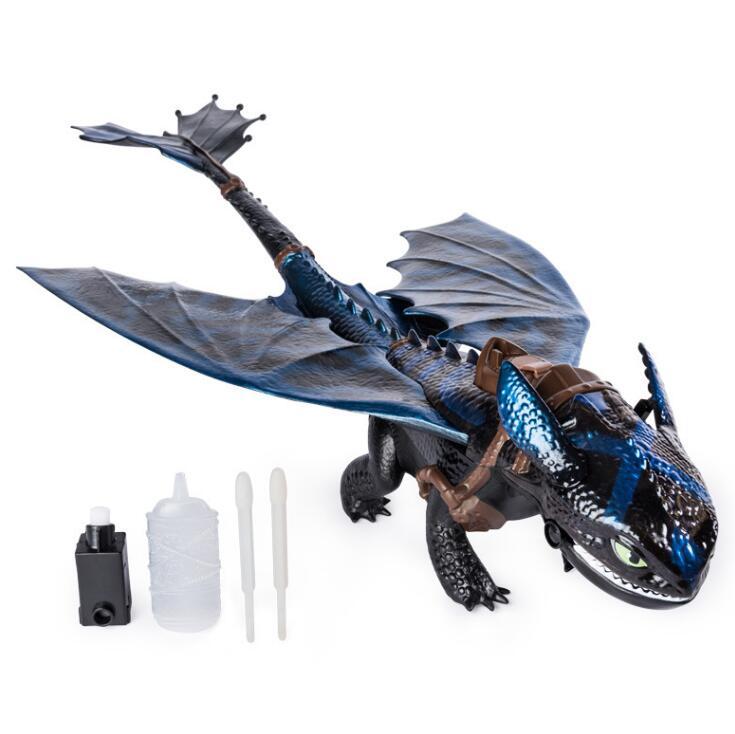 Подлинный Как приручить дракона гигантского огненного дыхания Беззубик 20-дюймовый дракон с огненным дыхательным эффектом детская игрушка ...