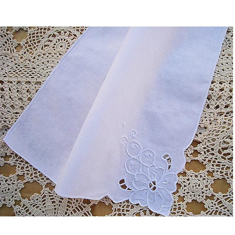 Pañuelo bordado de lino 100% de alta calidad, pañuelo de encaje hecho a mano Stantou, Envío Gratis