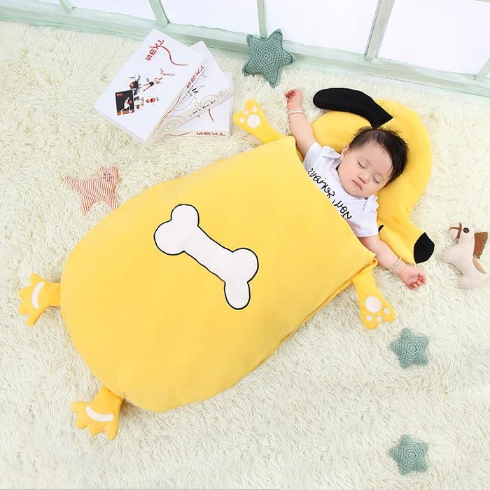 Baby Blanket Sleeping Bag Cotton Blanket Swaddling For Toddlers Cartoon Infant Envelope For Newborns Bathrobe Towel Comhoney