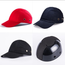 Mens Baseball Bump Cap Safety Hard Hat Head Protection Cap Adjustable Protective Hat