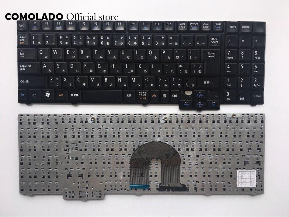 JP Японская Клавиатура для ноутбука NEC LL550W LL750B LL750AS черная клавиатура JP макет