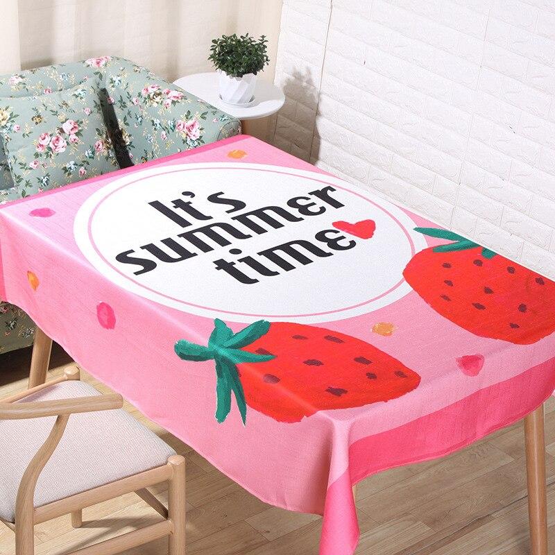 Pano de mesa retangular estilo pastoral abacaxi fruta impresso toalha de mesa proteção para casa e decoração colorida capa de mesa
