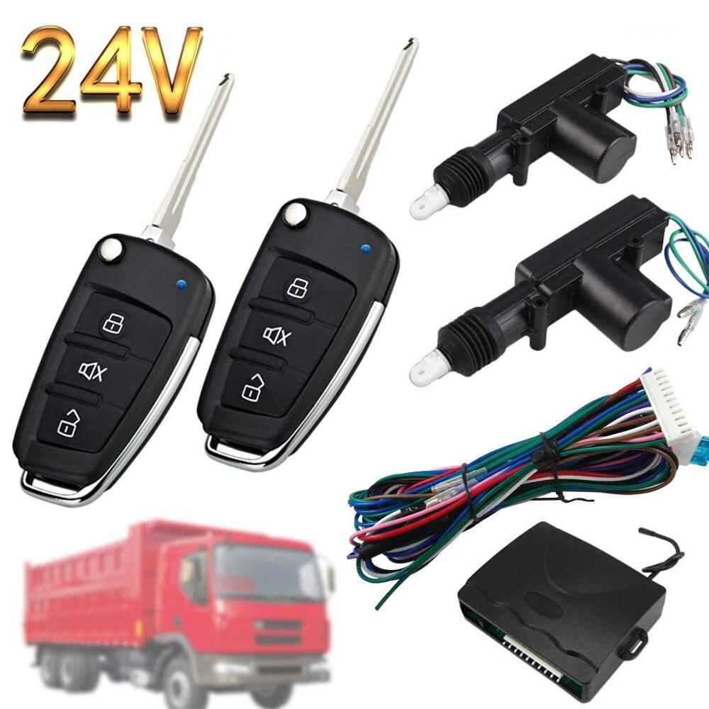 Cerradura Central para camión de 24V, a prueba de agua, a prueba de polvo, alarma unidireccional, ingeniería, camiones, vehículo, vagón, dispositivo antirrobo