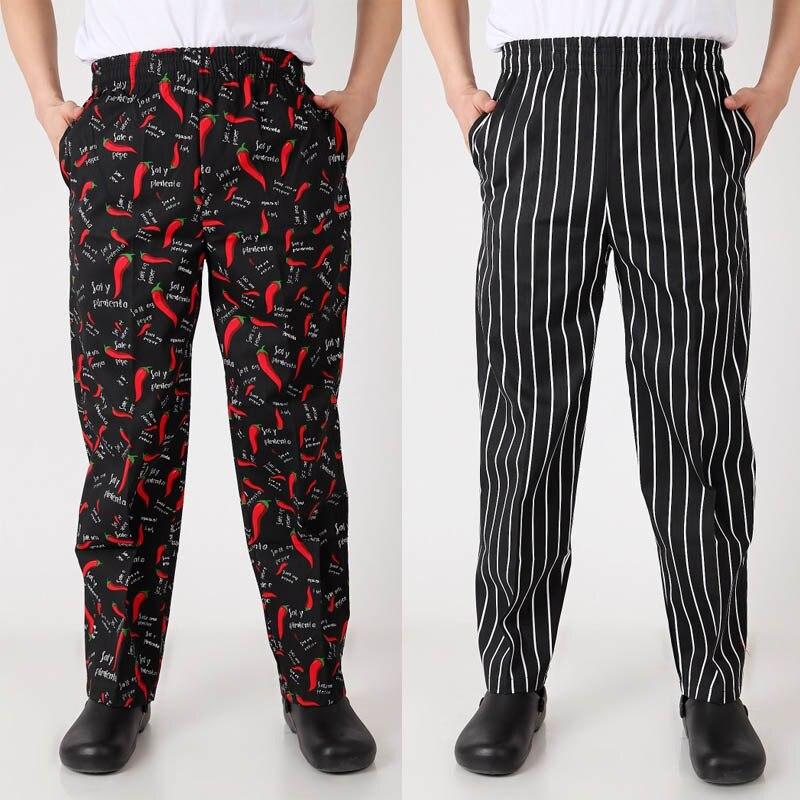 Поварская униформа для повара, новые осенние брюки для повара, рабочие брюки, клетчатые полосатые поварские брюки унисекс, брюки шеф-повара
