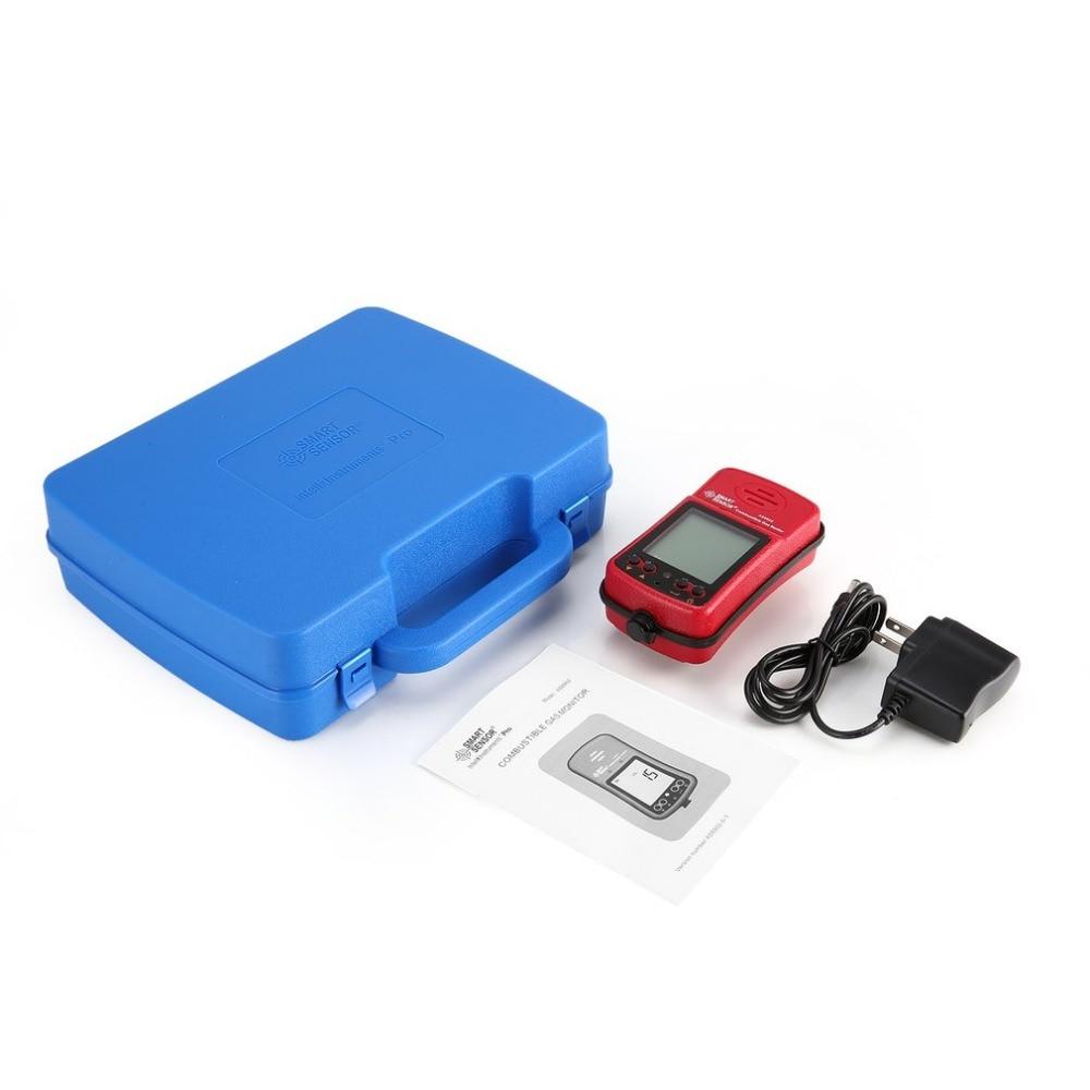 Inteligente señor AS8902 Combustible gas monitor de Gas Natural, Gas de carbón metano detector de Gas tóxico de Monitor de calidad de aire
