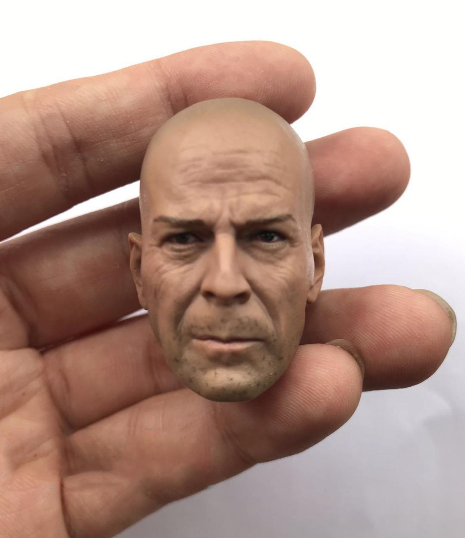 """1/6 escala morir Bruce Willis cabeza sculpt figura accesorios para 12 """"figura de acción de muñeca no incluyen cuerpo y otros A0396"""