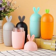 300ml Kreative Glas Flasche Student Tragbare Schönen Karotte Tragbare Sport Trinken Wasser Flasche