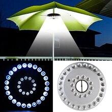 Luminaire Patio lampe 24 LED/36 lampes de jardin LED éclairage extérieur tente parapluie Portable lanterne Design intérieur disque lumière