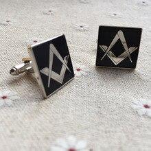 50 пар угольник и циркуль без G Freemason Masonry рукава кнопки Masons запонки металлические ремесленные масонские черные запонки