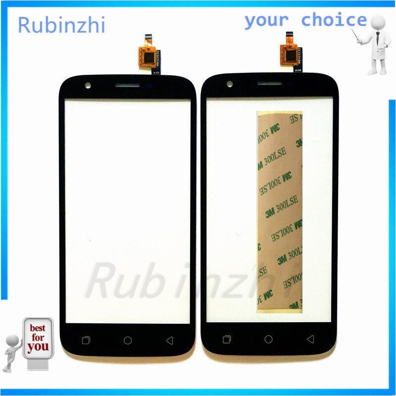Panel de pantalla táctil para teléfono móvil RUBINZHI cristal frontal para DEXP Ixion ES650 Sensor de pantalla táctil Panel táctil digitalizador con etiqueta adhesiva 3M