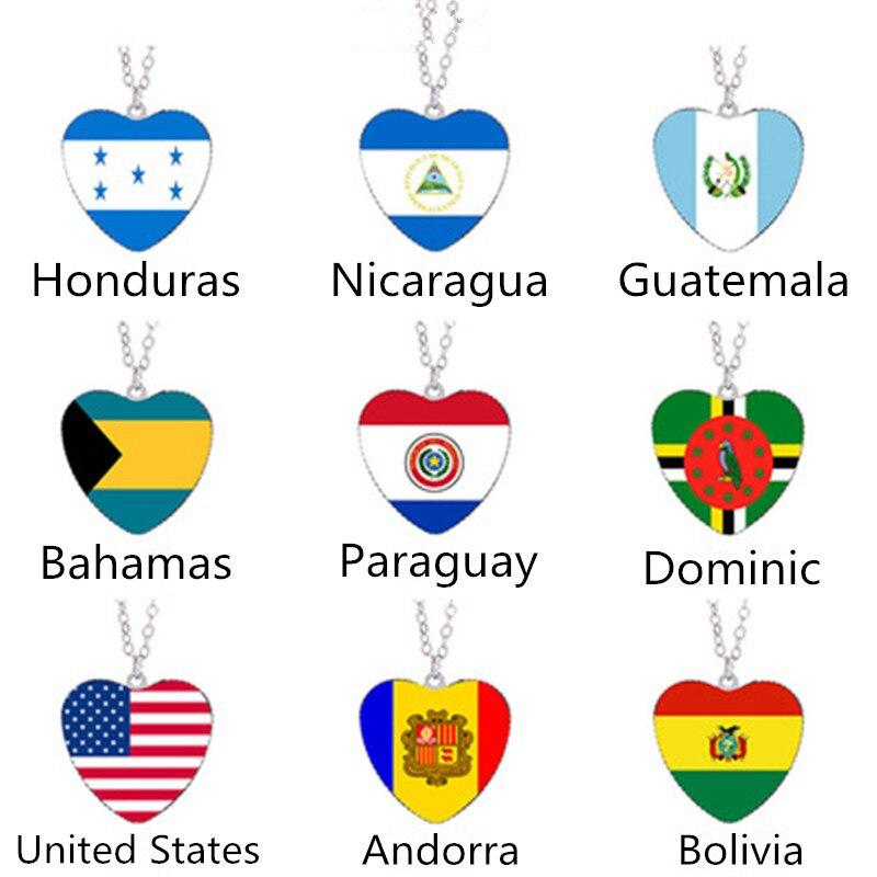 Collar de bandera de Andorra, Cuba, Paraguay, Bolivia, Dominica, Honduras, Estados Unidos, Nicaragua, Guatemala