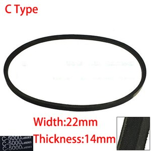 C 6500 6600 6700 6800 22mm Width 14mm Thickness Rubber Groove Cogged Machinery Drive Transmission Band Wedge Vee V Timing Belt