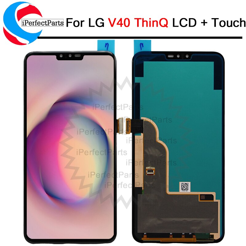 "100% probado 6,4 ""para LG V40 ThinQ V50 LCD pantalla MONTAJE DE digitalizador con pantalla táctil reemplazo para LG V40 V50 LCD"