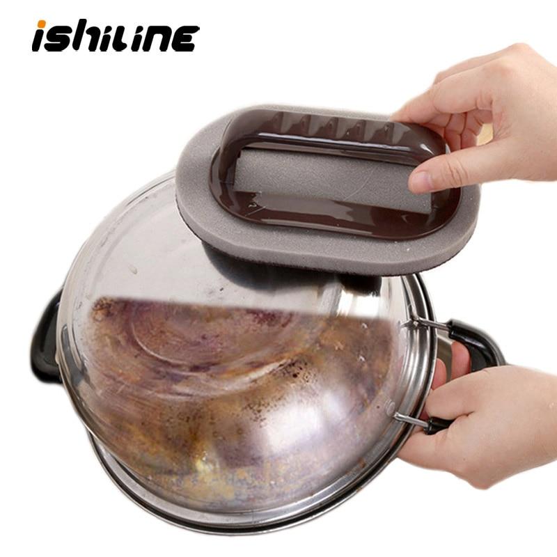 Forte descontaminação emery esponja escova pó mágico limpeza esfrega cozinha ferramenta de lavagem pan faca pote melamina esponja borracha