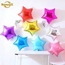 5pcs 18 inch Five-pointed star Heart foil balloons baby shower birthday party Wedding decoration sup