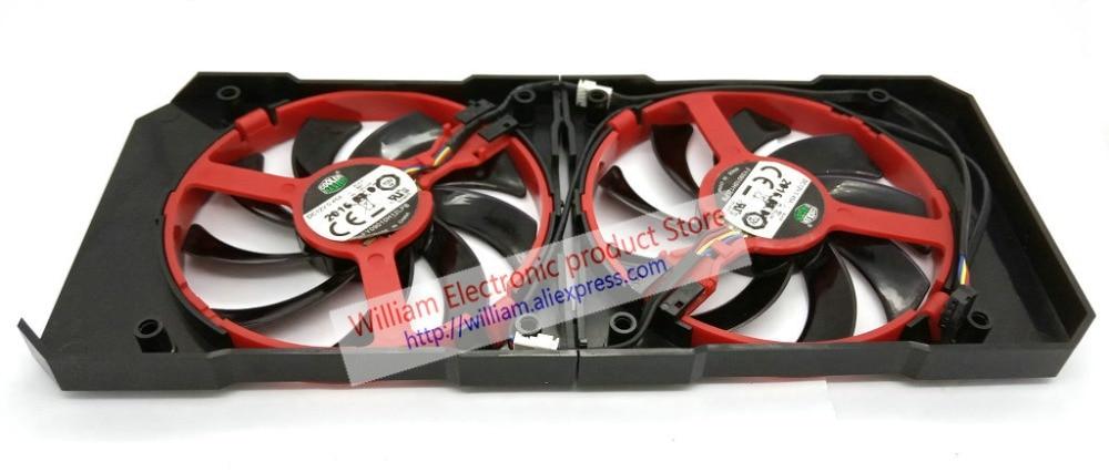 غلاف تبريد ومروحة لـ XFX R9 380 380X R9 370 370X RX460 560 ، أصلي
