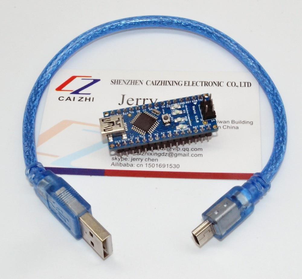 Freies Verschiffen für Arduino Nano V 3,0 controller ATMEGA328P ATMEGA328 original FT232RL + USB kabel