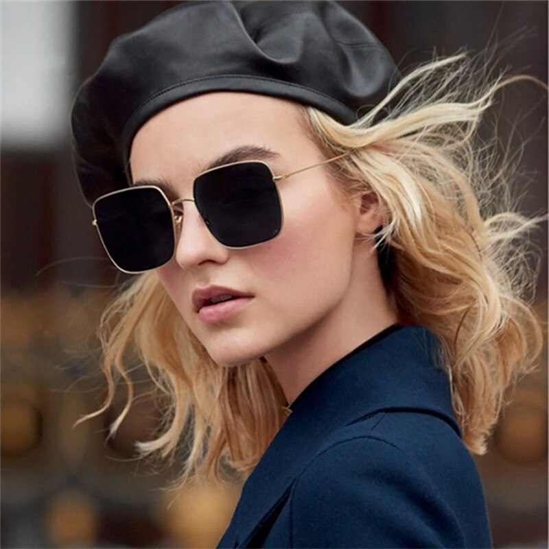 Vintage Square Sunglasses Brand Shades for Women Men Retro Metal Frame Color Lens Eyewear Ladies Sunglasses Fashion Sun Glasses outdoor full frame flat lens sun shades sunglasses