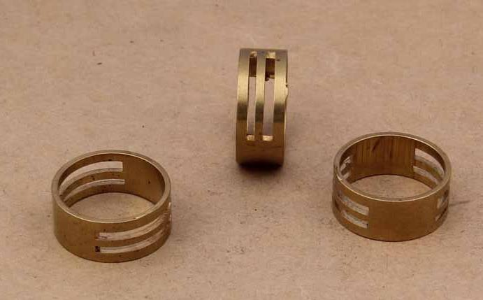 DIY jewelry tools Copper open ring 8*19mm