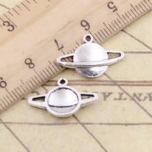 20pcs Charms Saturn Planet Spark 20x13mm Tibetan Silver Color Pendants Antique Jewelry Making DIY Handmade Craft Pendant
