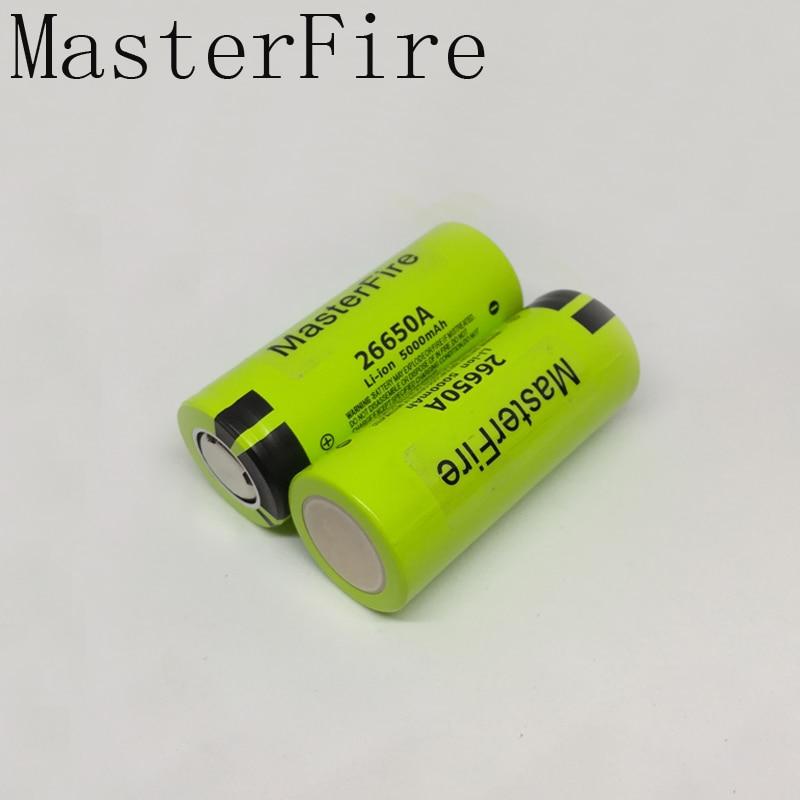 MasterFire 10 шт./лот, 100% оригинальный аккумулятор для Panasonic 26650A, 3,7 В, 5000 мАч, литий-ионные аккумуляторы высокой емкости 26650