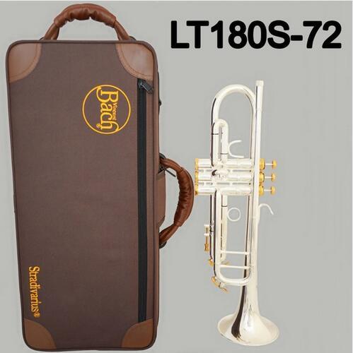 LT180S-72 de trompeta Bb profesional, instrumento musical profesional, con teclas doradas y plateadas, totalmente nuevo