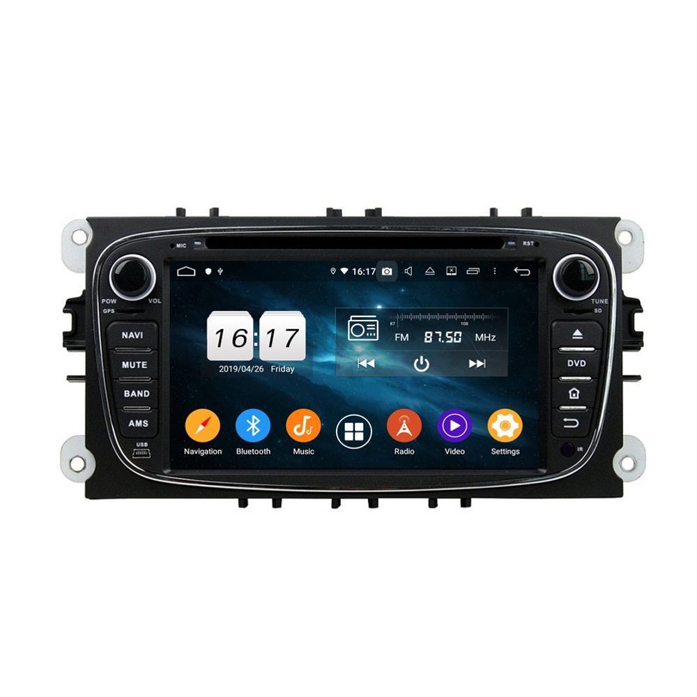 """Dsp Android 9,0 Octa Core 2 DIN 7 """"coche DVD GPS para Ford Mondeo Tourneo tránsito S-max Radio RDS Bluetooth 4,2 WIFI USB de 4gb + 32gb"""