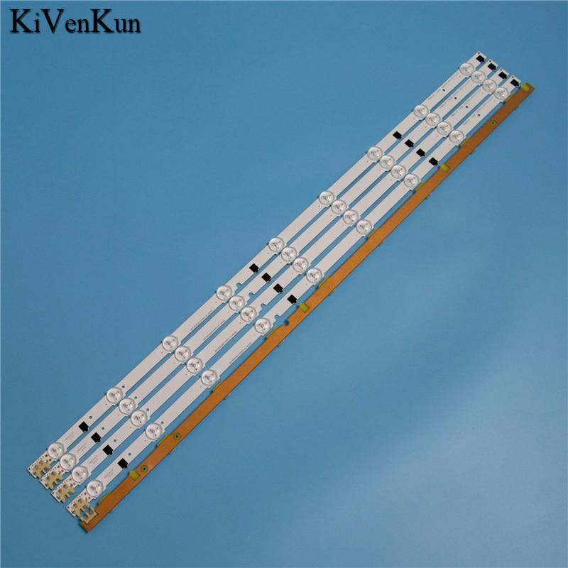 """650mm 9 lâmpadas led backlight strip para samsung ue32f4020aw 32 """"D2GE-320SC0-R3 2013svs32h 2013svs32f barras kit televisão bandas led"""