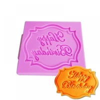 happy birthday letter form silicone mold chocolate fondant cake decoration tools high quality kitchen baking cupcake mould