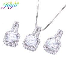 Juya indien bijoux fournitures Micro Pave de luxe cubique zircone pendentif collier pour les femmes de mariage cadeau de noël en gros